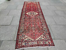 Old Traditional Hand Made Persian Orienta Wide Long Runner 322x106cm Red Wool