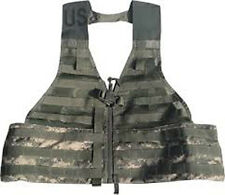 U.S Army Tactical Fighting Vest ACU Digital  CAMO Molle Combat Carrier Load LBV