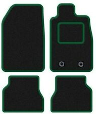 CITROEN C3 PICASSO MPV 2008 ONWARDS BLACK TAILORED CAR MATS WITH GREEN TRIM