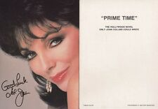 "JOAN COLLINS - Original 7"" x 5"" Promotional Photocard 'PRIME TIME' 1988  C#33"
