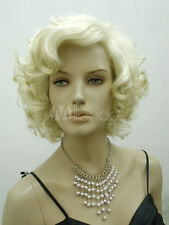 Fashion wig New Charm women's short Platinum Blonde Curly Natural Hair wigs