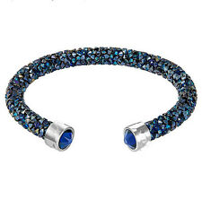 Shiny blue single crystaldust bracelets and bangle crystal stardust bracelets -S