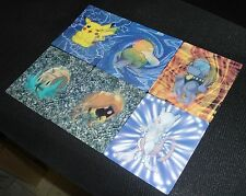Complete JUMBO Lenticular 6 Card Set Pokemon 2000 Kellogg's Hard to Find!