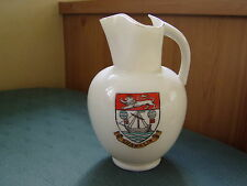 LARGE SHANKLIN + ISLE OF WIGHT ANCIENT - BATH ROMAN EWER - GOSS CRESTED CHINA