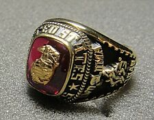 Jostens U.S. Marine Corps Men's Ring with Stone, Size 7.5