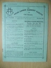 1933 Athletics Magazine-SOUTH LONDON HARRIERS GAZETTE & CHRONICLE- No.4,Vol.XLIX