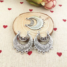 Retro style charm 4pcs silver Alloy Earring Connectors 29*33mm@19,Jewelry Making