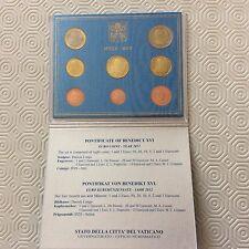 Coffret complet de 8 pièces Vatican 2012