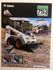Bobcat 753 G-Series Skid-Steer Loader Dealership Ad Flyer - Must See !!