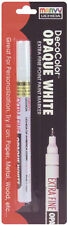 Deco Color Extra Fine Opaque Paint Marker 1/Pkg-White Marvy