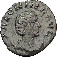 Salonina daughter in law of Valerian I RARE  Ancient Roman Coin i29674