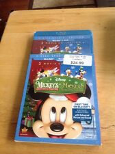 DISNEY MICKEY'S ONCE UPON A CHRISTMAS & TWICE UPON(BLU-RAY/DVD)NEW Authentic US