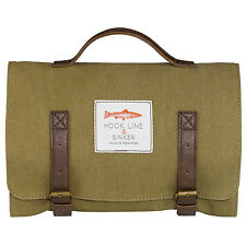 Hook Line and Sinker - Khaki Fishing Themed Canvas Hanging Roll Wash Bag