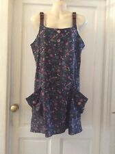 JOE BROWNS Quirky Floral Print Tunic Top. Belt Buckle Detail. SIZE 12 NWT