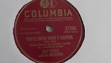 Ray Noble - 78rpm single 10-inch – COLUMBIA #37356 My Heart Is A Hobo