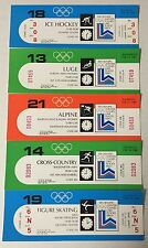 (5) 1980 Lake Placid Olympic Tickets UNUSED Hockey Alpine Luge XCountry Skating