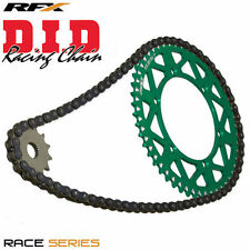 NEW 49 T DID Chain And RFX Sprocket Kit Combo for Kawasaki KXF250 06-17 Green