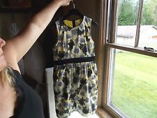 JUICY COUTURE SIZE 14 LITTLE GIRL'S SLEEVELESS DRESS W/YELLOW SLIP USED ONCE