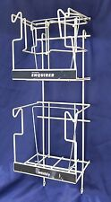 Wall Mounted Magazine Vending Display Rack with Advertising