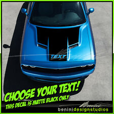 2015 and up Dodge Challenger RT SRT8 Scat Pack Hood Stripes Matte Black Decals 1