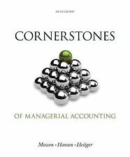 Cornerstones of Managerial Accounting, by Mowen, 5th Edition