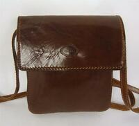 VINTAGE THE TREND BROWN ITALIAN LEATHER SATCHEL HANDBAG SHOULDER BAG