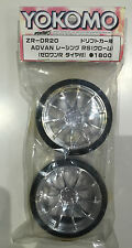 Yokomo ZR-DR20 Advan RS 10-Spoke Drift Wheels & Tyres (1 Pair) NIP