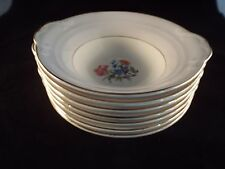Crown Pottery Company Pattern 1149 Grey and White with Gold Bowls  7 TOTAL