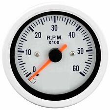 85mm auto gauge 0-6000 rpm Tachometer for marine yacht (White Face)