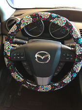 Sugar Skull Dia de los Muertos Day of the Dead Steering Wheel Cover