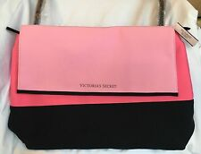 NWT Victorias Secret Pink Black Neoprene Insulated Cooler Tote Picnic Beach Bag