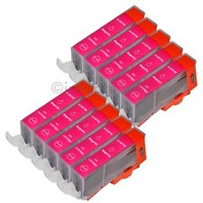 10 para Canon cartuchos + chip CLI 521 magenta IP 3600 IP 4600 IP 4700 mp 540 mp550