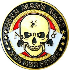 "Poker Card Guard ""Dead Man´s Hand"" 24K vergoldet"