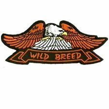 EAGLE WILD BREED Embroidered Motorcycle MC Club Funny Biker Vest Patch PAT-0582