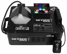 CHAUVET DJ GEYSER RGB JR Compact Fog/Smoke Machine & LED Fire/Flame Effect Light