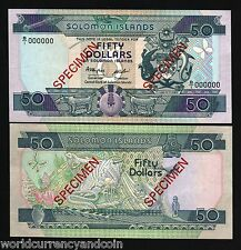 SOLOMON ISLANDS $50 P22 1996 *SPECIMEN*BUTTERFLY REPTILE UNC RARE CURRENCY NOTE