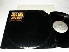 "Greg Kihn ""Boys Won't (Leave The Girls Alone)"" 1985 Rock,12"" Single, VG+, Promo"