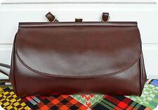 Luxus Vintage GOLDPFEIL Hand Tasche Bag Schultertasche Cognac Purse Sekretärin