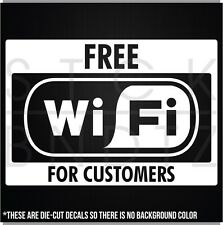 FREE WIFI BUSINESS COMMERCIAL RESTAURANT BAR GYM SHOP SIGN WALL DECAL STICKER