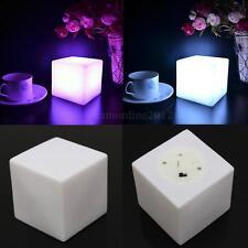 LED Lampe Cube Veilleuse Lumière Changeant à Café Bar Déco Halloween Cadeaux