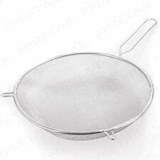 LARGE 20cm BAKING SIEVE Flour Strainer Rice Vegetables Kitchen Mesh Wire Utensil