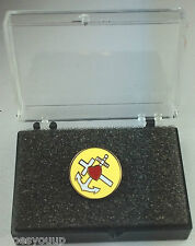 Masonic Faith Hope & Charity Gold Plated Enamel Lapel Pin Badge In Gift Box