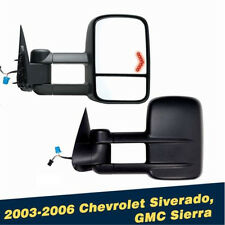 Power Heated Lights Tow Mirrors For 2003 - 2006 Chevrolet Siverado GMC Sierra YF
