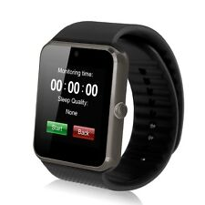 Black GT08 Bluetooth Smart Watch Phone Mate For Android IOS iPhone Samsung LG
