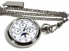New!! Citizen CBM Moon Face AA92-4201L Pocket Watch Japan Import F/S