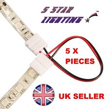 5 STRISCIA A STRIP PCB Connector wire Adapter Adattatore per singolo colore 3528 LED