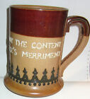 LAMBETH ROYAL DOULTON RELIEF MUG TIS NOT THE FOOD BUT THE CONTENT THAT MAKES