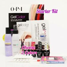 OPI GelColor Soak Off Gel Starter Intro Icons Kit: Base Top+2 O.P.I Color Set+..