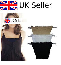 3pcs Clip on Camisoles Cami Secret Sexy Lace Set Panels Cleavage Control UK NEW#