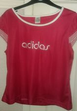 BNWOT LADIES ADIDAS HOT PINK TOP,  LARGE